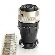 Роз'єм кабельний 28pin, штекер, контакти та затискач