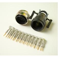 Роз'єм SOURIAU кабеля пульта гідравліки EHS-1 John Deere.